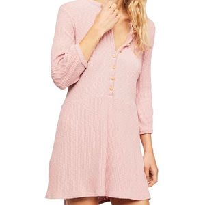 FREE PEOPLE Blossom Stretch Cotton Dress In pink
